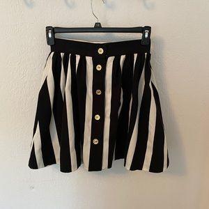 Vintage striped black and white skirt